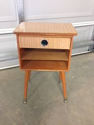 a bedside table before after