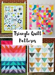 81 best Modern Quilt Patterns images on Pinterest | Quilt patterns ... & Terrific Triangle Quilt Tutorials: 40 Triangle Quilt Patterns Adamdwight.com