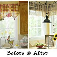 Primitive Curtains For Kitchen Curtains Inside French Black Pc Plaid Chic Black Country Kitchen