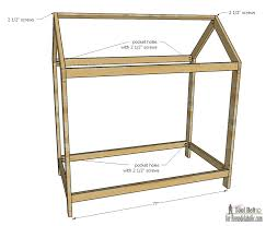 Twin Size Headboard Dimensions Remodelaholic House Frame Twin Bed Building Plan