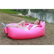 inflatable furniture. Inflatable Sofa Lounger Air Filled Balloon Bed Portable Hangout Wind Sleeping Bag Camping Beach Furniture