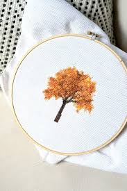 Cross Stitch Free Patterns Extraordinary Fall Tree Cross Stitch And How I Create My Own Patterns Free