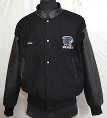 granby panther by canada men s varsity jacket with leather sleeves made in canada e 16 1 6 kg
