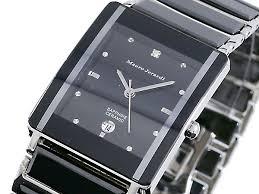 1more rakuten global market one マウロジェラムディ diagram one マウロジェラムディ diagram analog quartz men ceramic watch black dial black combination belt mj3080