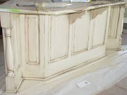 Distressed Kitchen Cabinets Cream Distressed Kitchen Cabinets Soft Cream Color In This Case