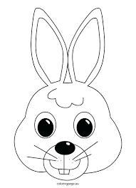 Bunny Rabbit Outline Template Crafts Clipart Wakacyjnie Info