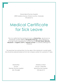 Medical Certificate For Illness Free Medical Certificate For Sick Leave Medical Doctors