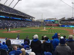 Kauffman Stadium Section 134 Row H Seat 4 Kansas City