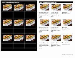 Menu Templates Free Microsoft Sushi Menu 14