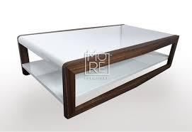 high gloss finish coffee table walnut frame