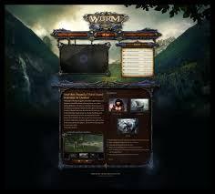 wurm online website design game ui design freelancer antonw