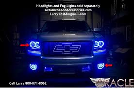 2007 2016 chevy avalanche oracle halo headlights