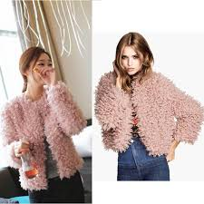 gy collarless on long sleeve jacket short coat outerwear pink top quality g0716 faux fur coats women faux fur coats fur coats women with