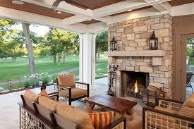 custom fireplace screens porch traditional with beams box beams fireplace motorized screens outdoor