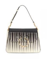 shoulder bag womens j w anderson pierce striped leather shoulder bag black