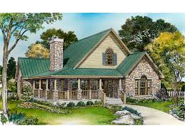 cabin cottage house plan front of home 095d 0050 house plans and