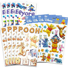 Winnie The Pooh Reward Chart Buy Winnie The Pooh Stickers Party Favors Over 200 Reward