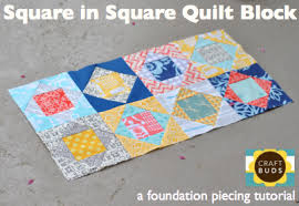 Square in Square Quilt Block (Paper Piecing Tutorial) | Craft Buds & Tutorial for a Square in Square quilt block (paper pieced) Adamdwight.com