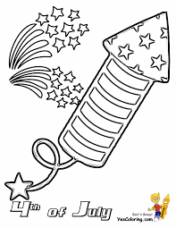 Small Picture July 4th Coloring Page Of Firecracker Throughout 4Th Pages glumme