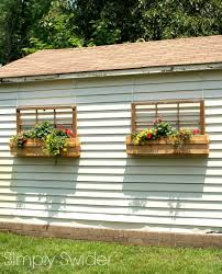 Decorative Window Boxes 60 Ways To Repurpose Old Windows Upcycled Window Projects 24