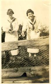 Mildred Littlefield and Viola Smith