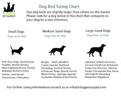 Pet Bed Size Chart Dog Bed Sizes Donatecar2018 Info