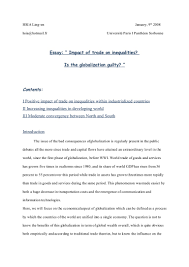 globalization and developing countries essay  globalization and developing countries essay