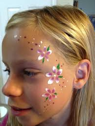 simple face paintings free coloring pages
