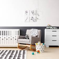 black white nursery decor from target s cloud island collection