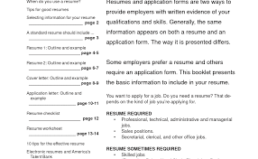 Resume Guidelines How To Write Your First Resume After College Example Teenager 87