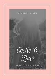 Memorial Service Invitation Template New Customize 48 Memorial Service Program Templates Online Canva