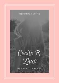 Memorial Service Invitation Template New Customize 48 Memorial Service Program Templates Online Canva