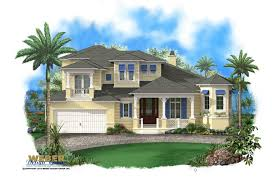 2 story beach house plan with pool car garage luxury homes floor plans florid