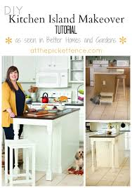 kitchen island makeover as seen in bhg from at the picket fence update