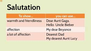 Salutation Examples For Personal Letters Zaloy