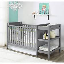 Baby Relax Emma 2 in 1 Crib and Changing Table bo Gray e