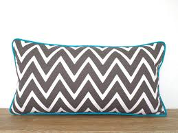 Gray outdoor pillow case 20x12 geometric cushion cover entryway