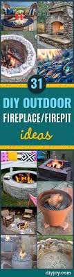 Diy Backyard Projects 31 Diy Outdoor Fireplace And Firepit Ideas Diy Joy