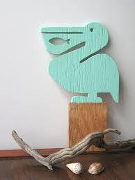 pelican wooden wall art