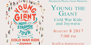 Sumtur Amphitheater Seating Chart Young The Giant With Cold War Kids And Joywave At Sumtur