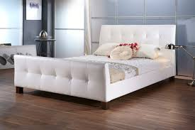 white faux leather bed. Exellent Leather Lunar White Faux Leather Bed Frame In I