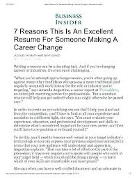 Sample Resume Career Change Sample Resume For Changing Careers ...