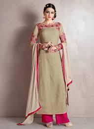 Pakistani Designer Palazzo Pants Noble Grey Designer Palazzo Salwar Suit