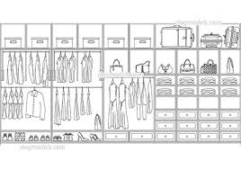 walk in closet dwg cad file free
