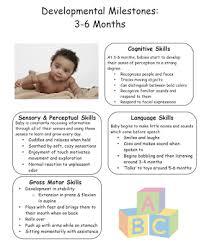 5 Months Milestones Chart Pediatric Ot Tips Developmental Milestone Chart 3 To 6