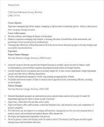 44 Manager Resume Samples Sample Templates