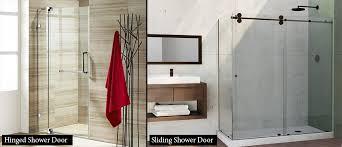 hinged shower doors vs sliding shower doors