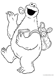 Cookie Monster Coloring Pages Sesame Street Coloring4free