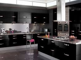 Modern Black Kitchen Cabinets Black Gloss Kitchen Cabinets
