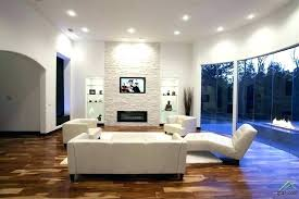 built in cabinets around fireplace modern living room with stone white lounge chaise high ceiling hardwood